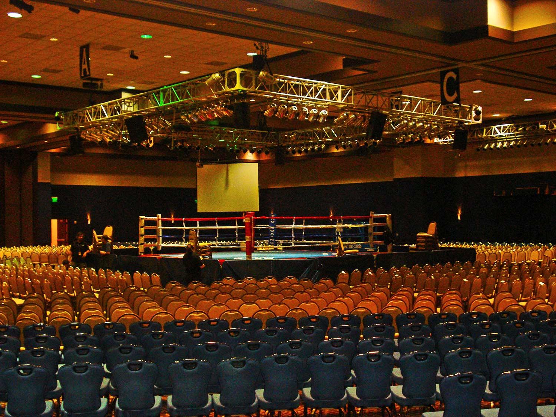 Ballroom interior of Pala Casino by Olson Construction Company