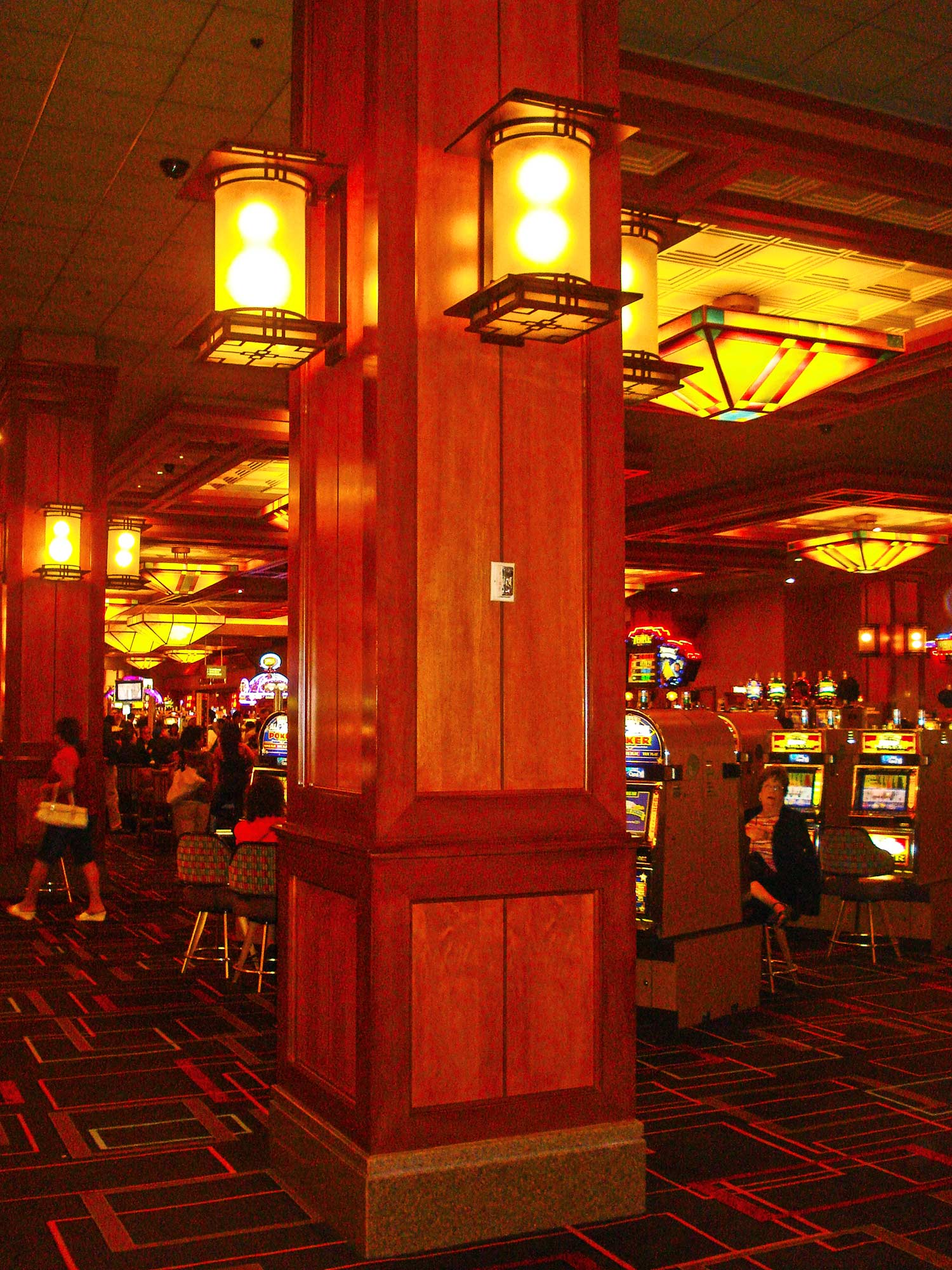 Column detail of Pala Casino by Olson Construction Company