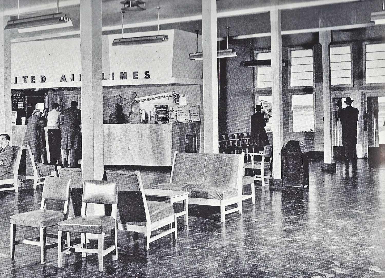 Old United Airlines terminal in Lincoln, Nebraska