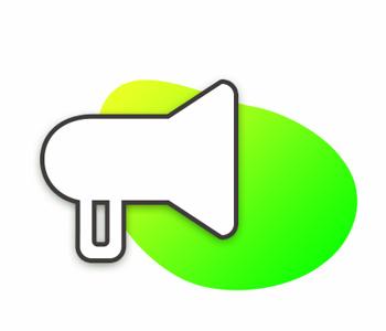 icône services marketing et publicité