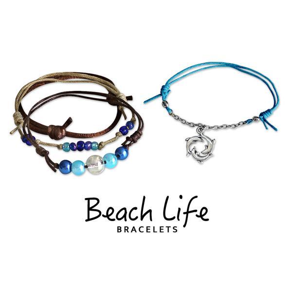 Dolphin Ring Bracelets - 4 Piece Set