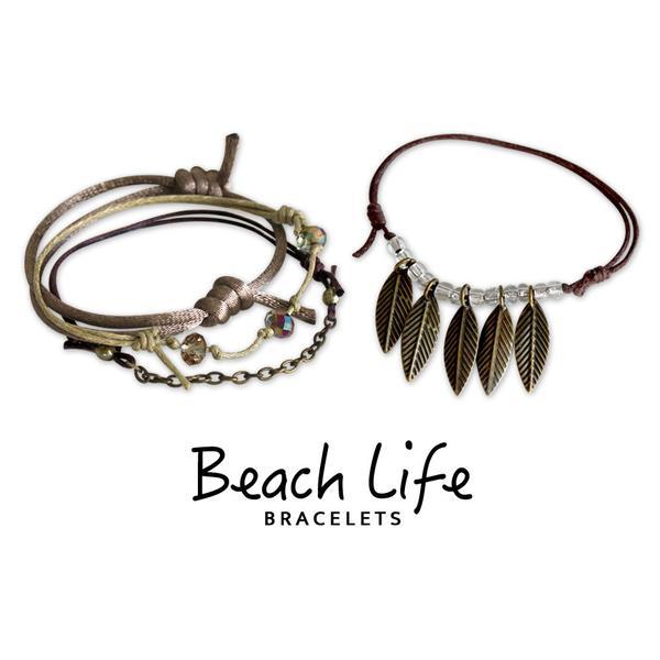 Leaves Bracelets - 4 Piece Set