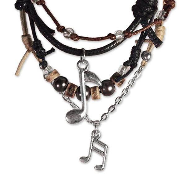 Music Notes Bracelets - 4 Piece Set