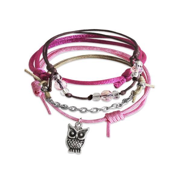 Owl Bracelets - 4 Piece Set