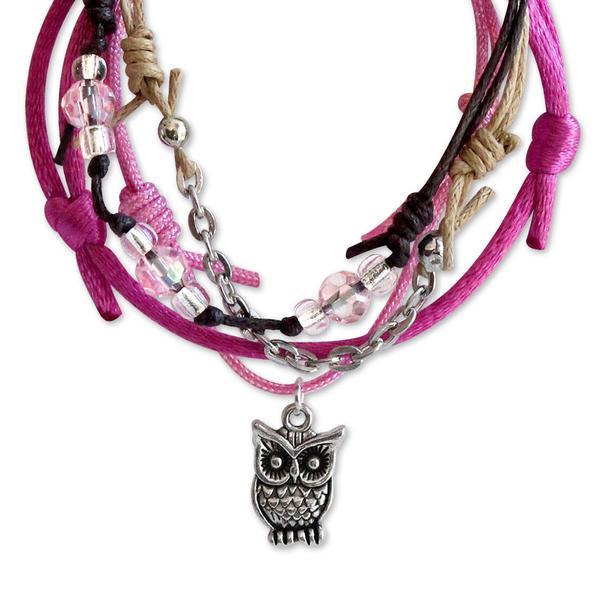 Owl Bracelets - 4 Piece Set