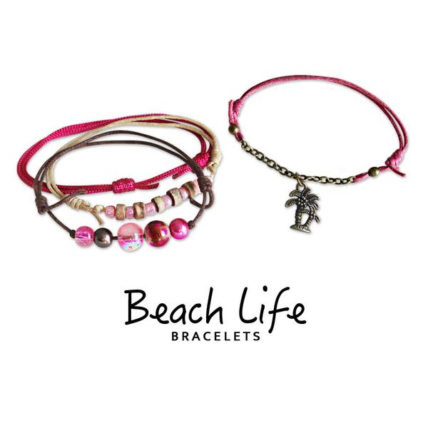 Palm Tree Bracelets - 4 Piece Set