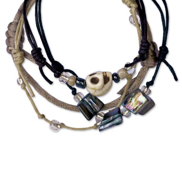 Pirate Skull Bracelets - 4 Piece Set