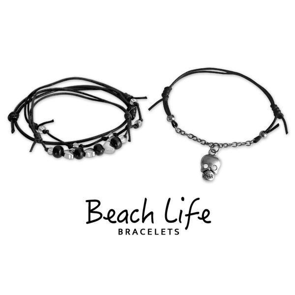 Skull Bracelets - 4 Piece Set