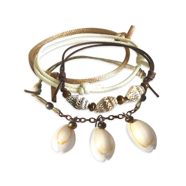 Summer Shells Bracelets - 4 Piece Set