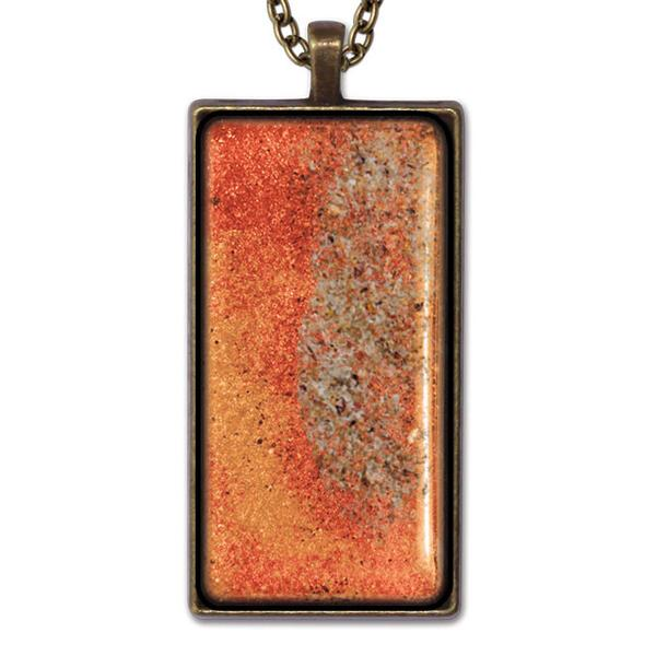 Orange Rectangle Necklace