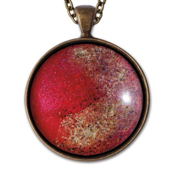 Red Circle Necklace