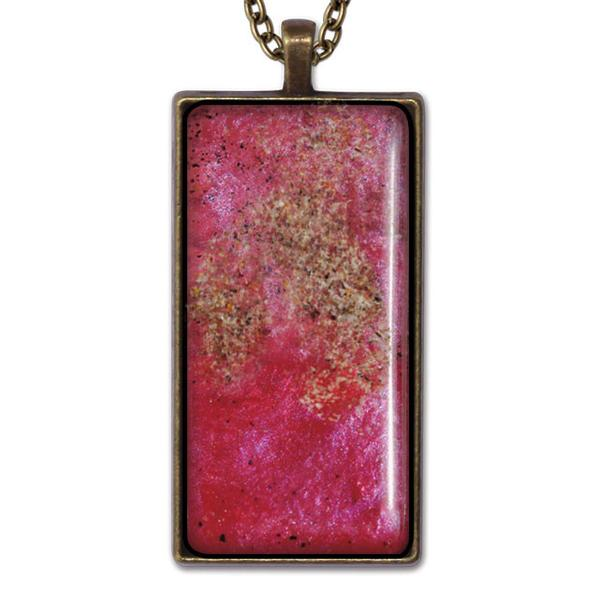 Red Rectangle Necklace