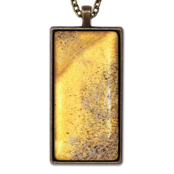 Yellow Rectangle Necklace