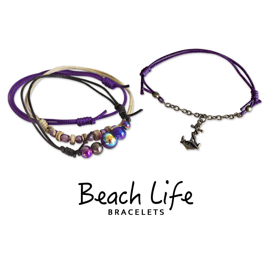 Anchor Bracelets - 4 Piece Set