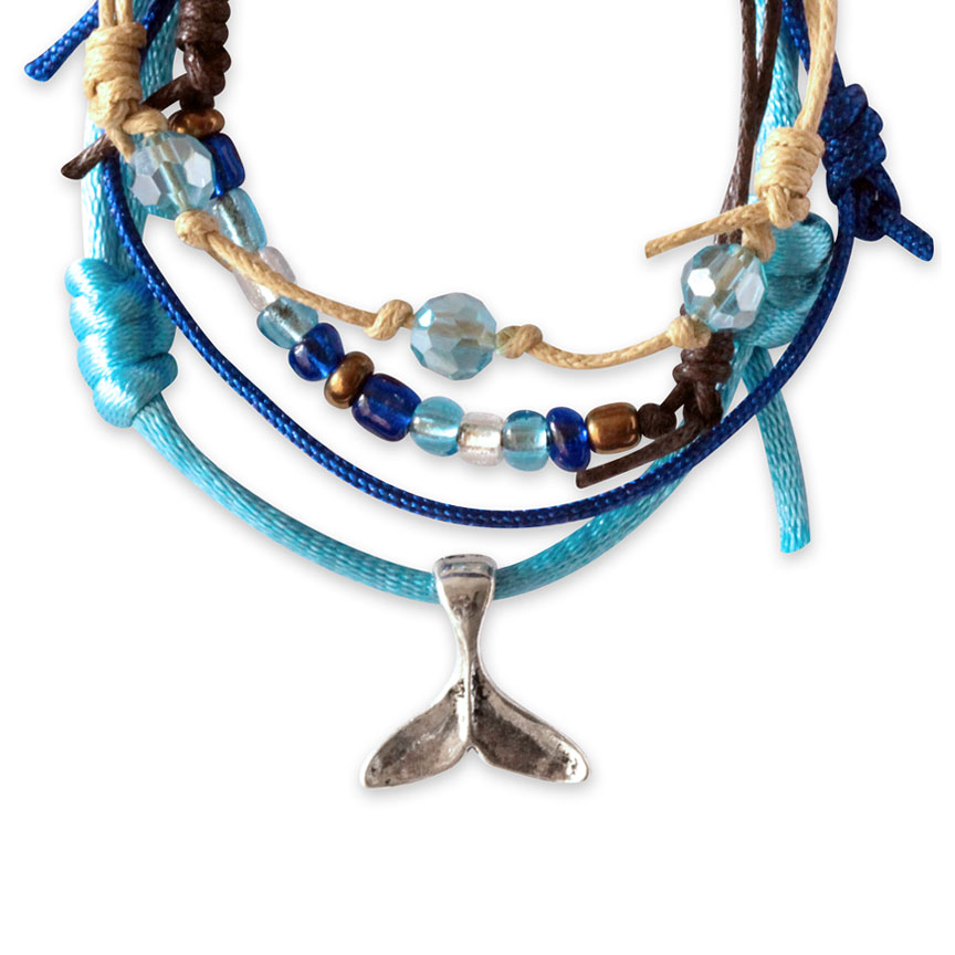 Whale Tail Bracelets - 4 Piece Set