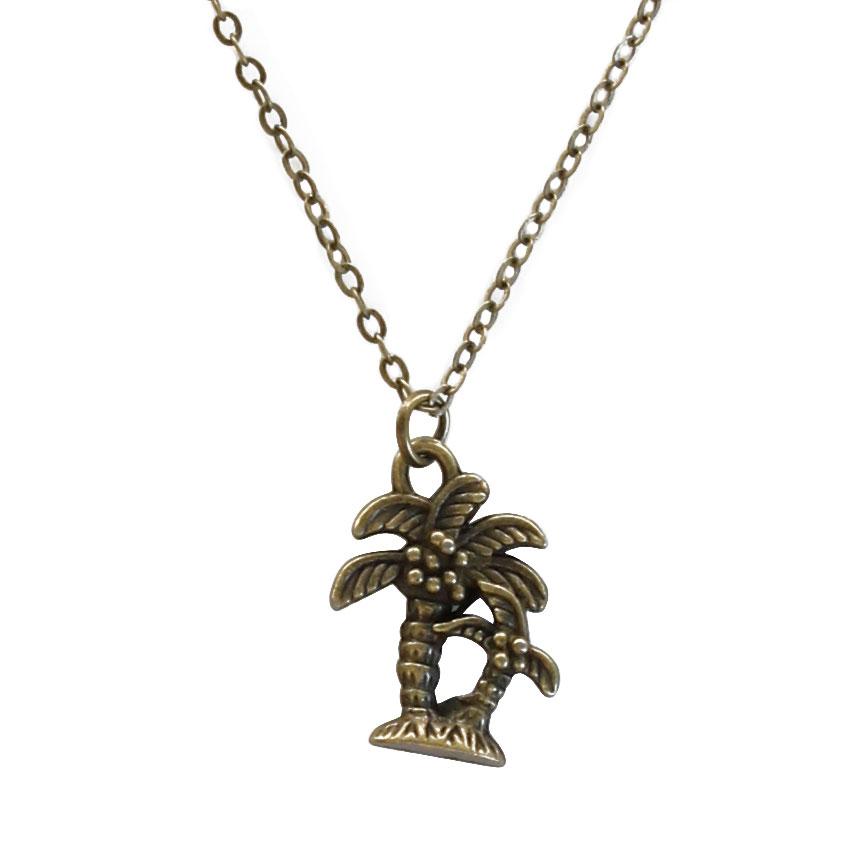 Palm Tree Charm Necklace