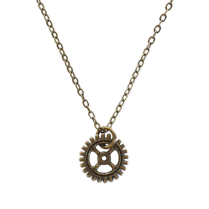 Gear Charm Necklace