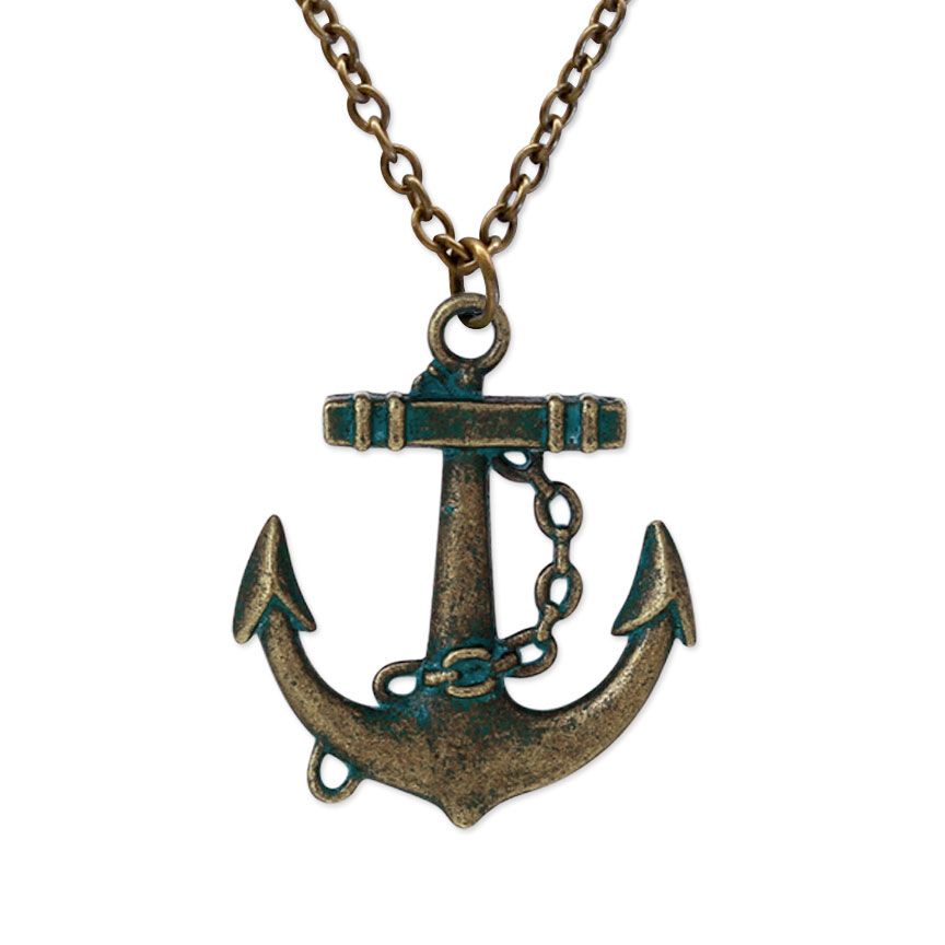 Hold fast, this anchor necklace keeps you grounded with courage during the storm!
