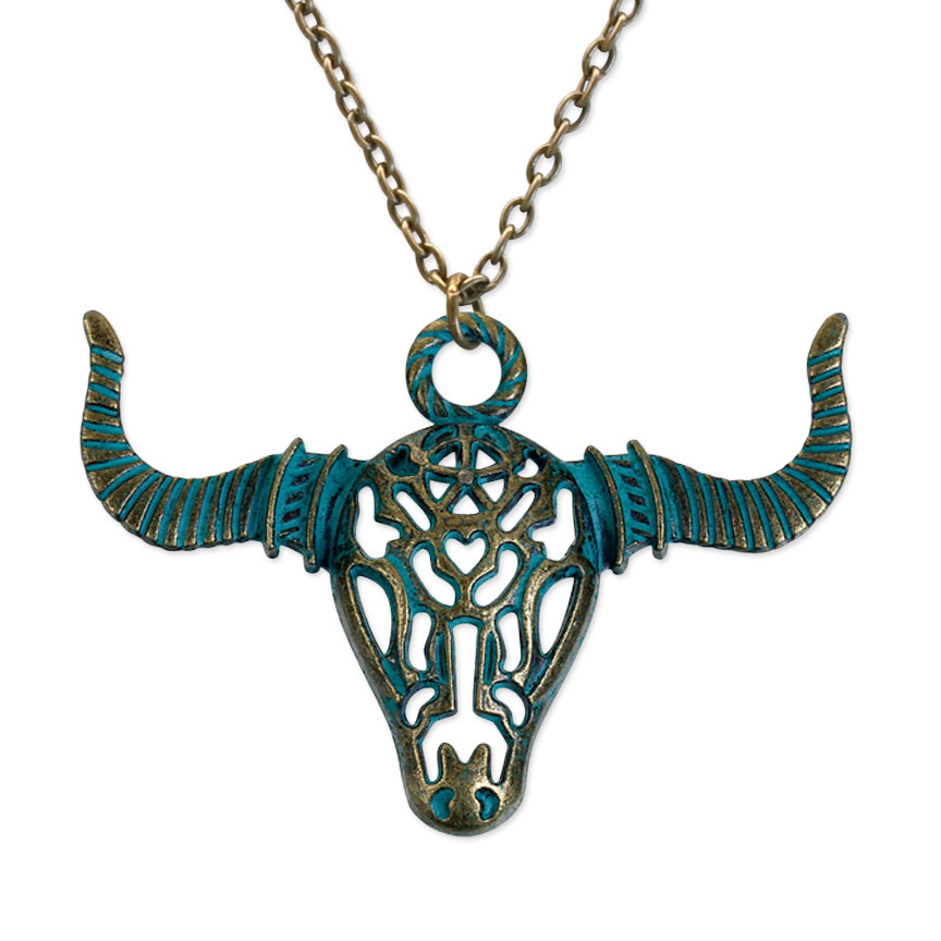 Feel your strength and passion with this strong necklace, like the bull, stand steadfast and bold!