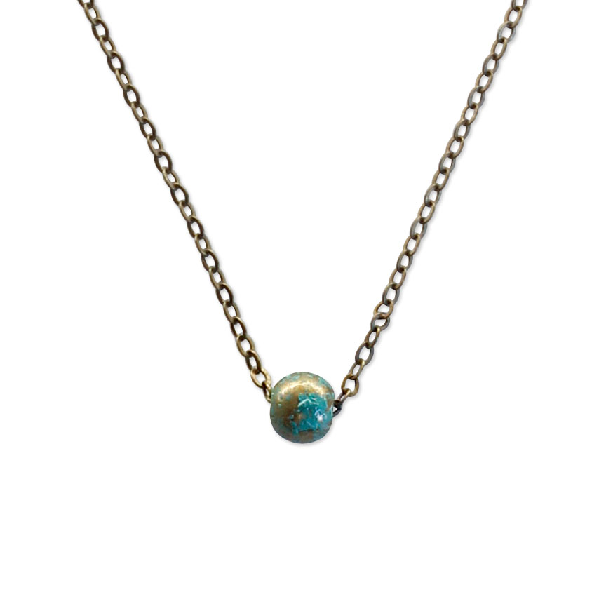 A reminder even the tiniest things are a beautiful gift to the world! The Beach Bead Necklace is simple and sweet.