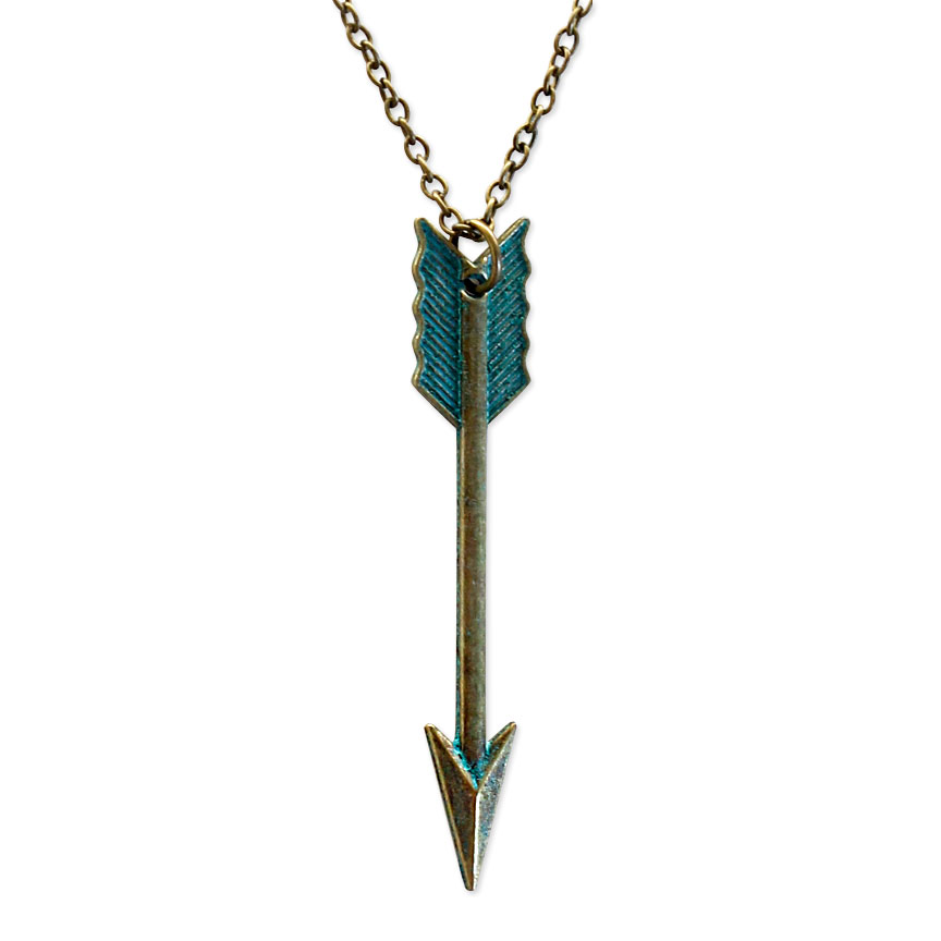 Stay focused and determined with a patina arrow necklace. Let your true vision guide you on your journey!