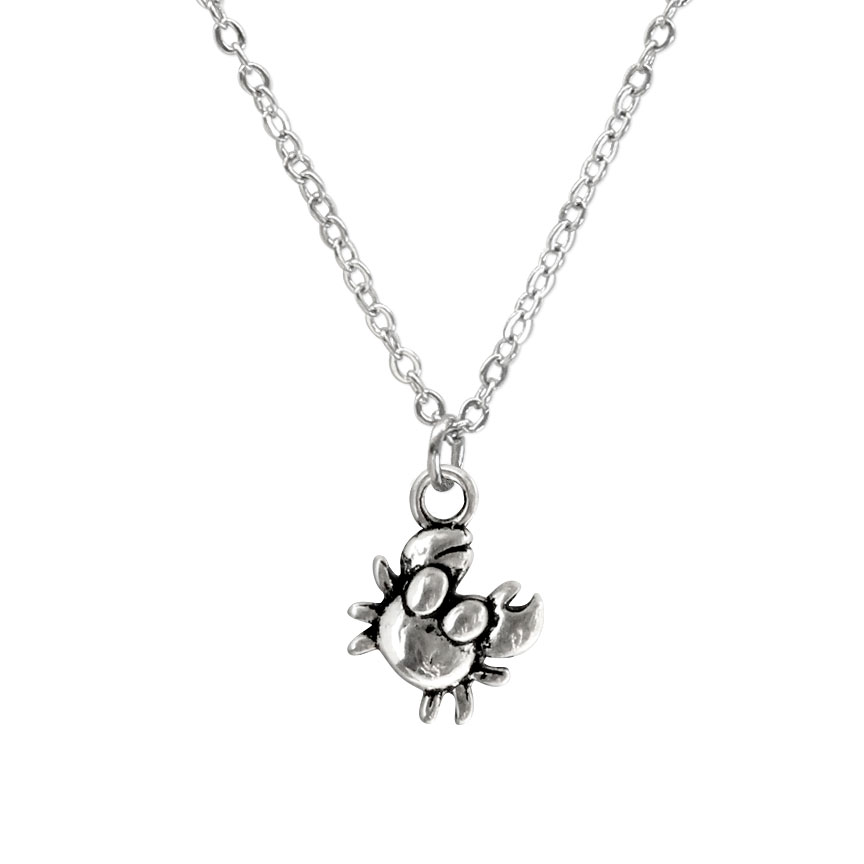 Hold on tight and don't let go! Nurturing crabs value family and are excellent protectors. Share this crab charm necklace with someone you love. Beach Life Charm Necklaces are the perfect summer accessory for those long afternoons on the beach with your friends! O Yeah!