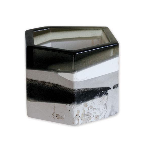 Black & Clear Pottery - Medium