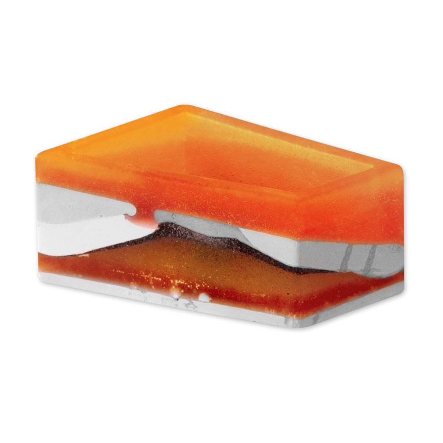 Orange Flower Bed Planter - Medium