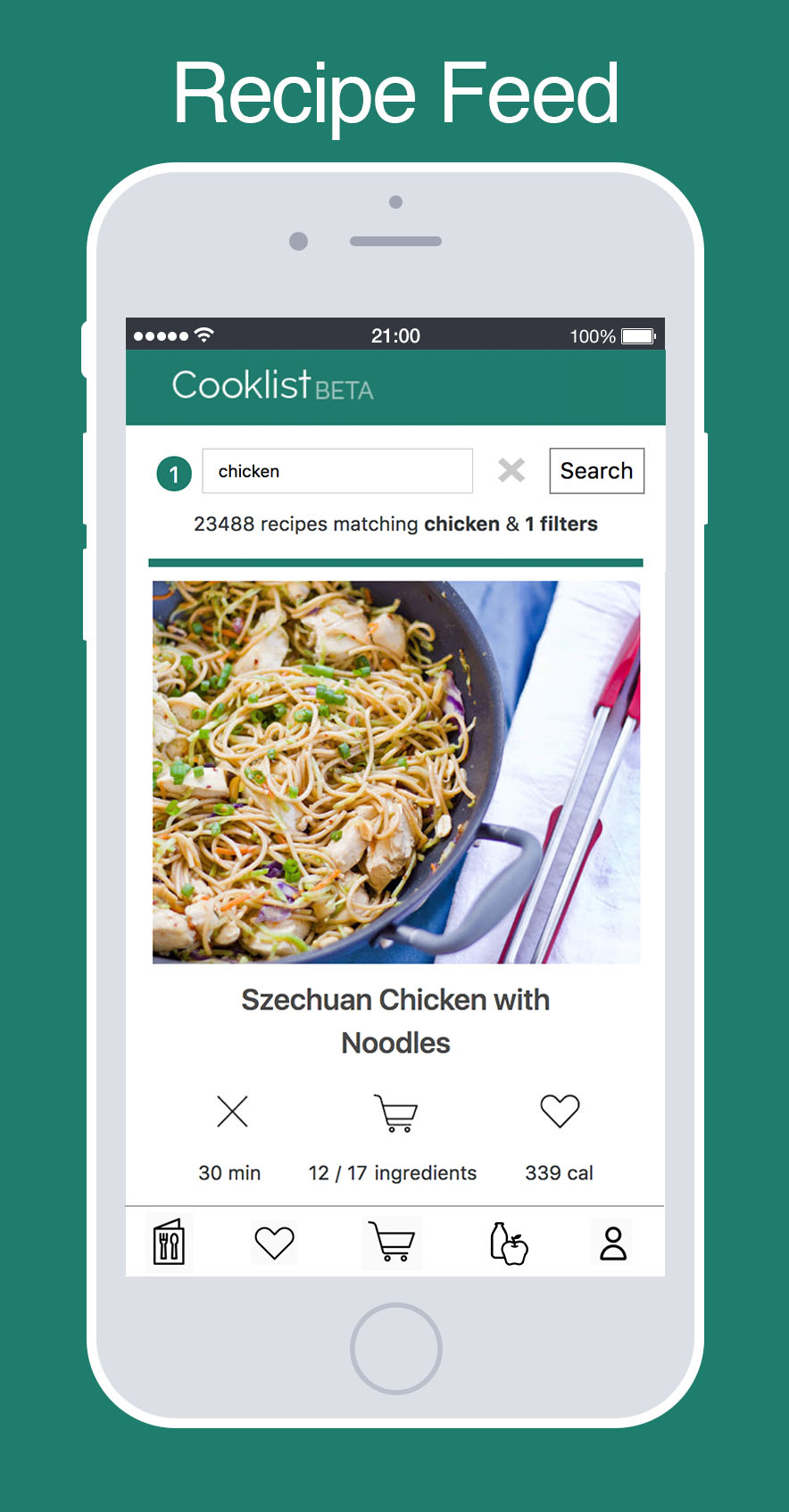 Cooklist design brief the recipe feed needs a way to easily search and filter recipes the design focus will be on the recipe card that represents each recipe when the user forumfinder Images