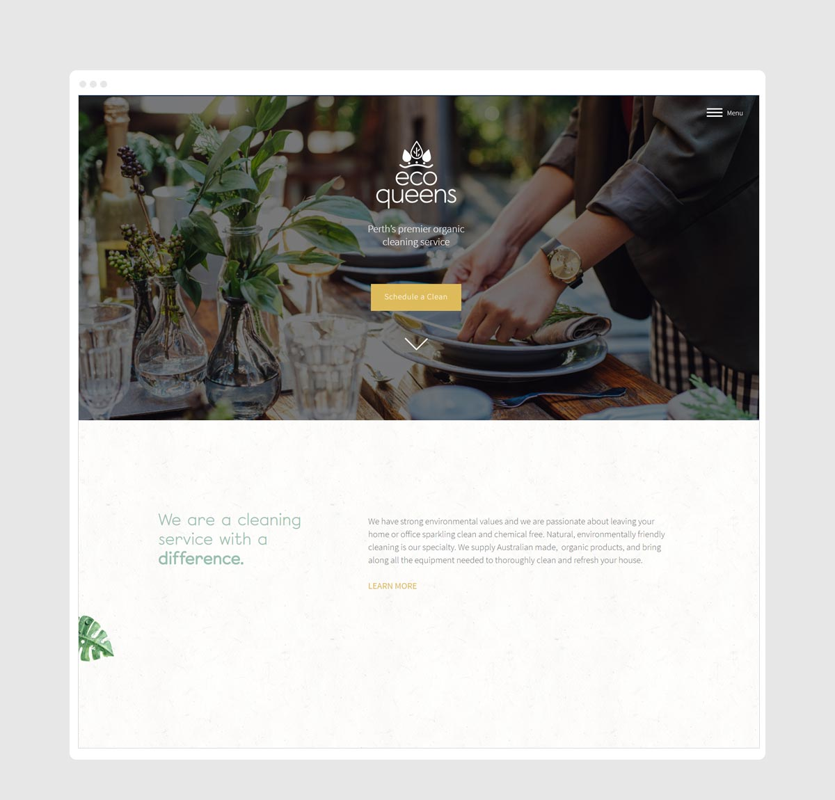 Photo of EcoQueens website homepage by New Method