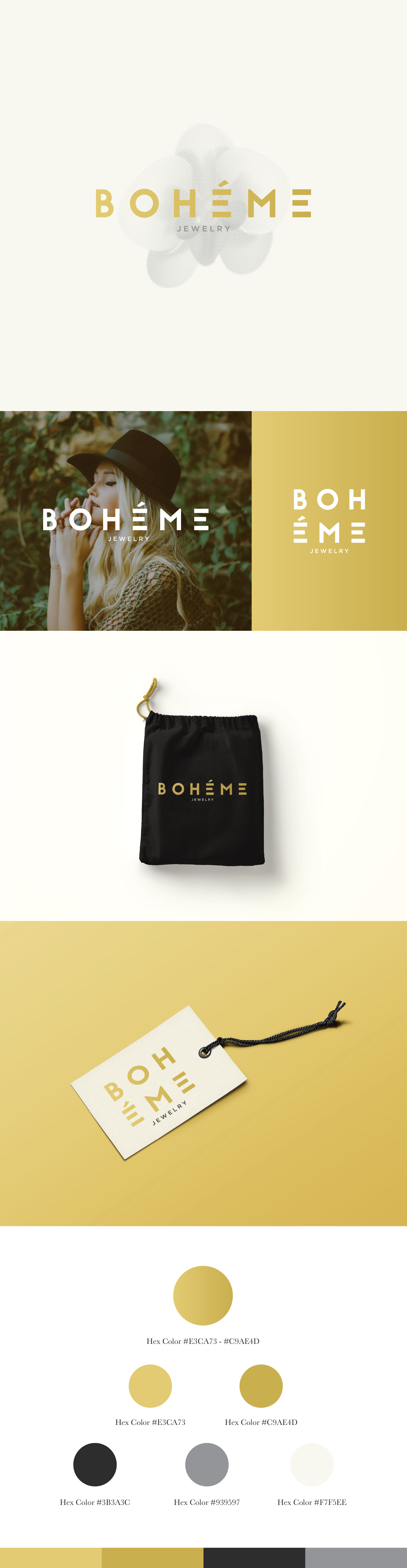 Boheme Jewelry Logo and Identity K. Karnes Designs