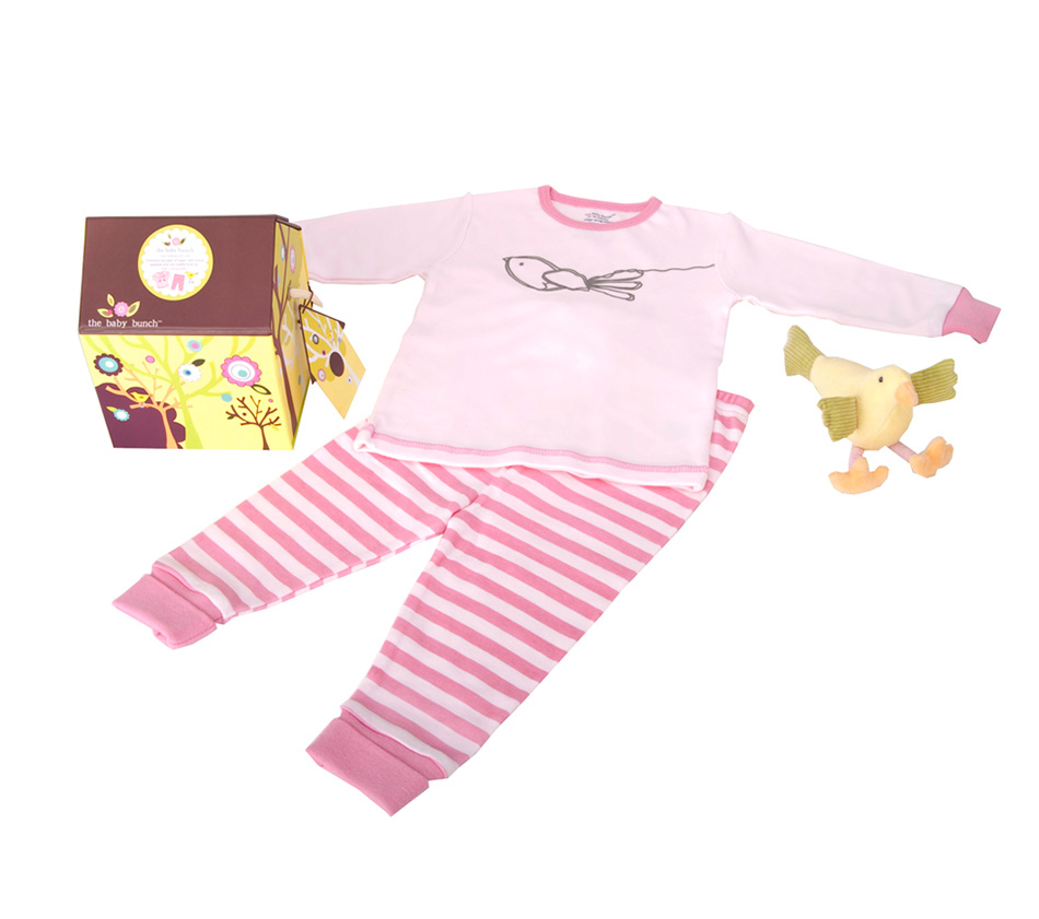 Baby Boy Gifts,Unique Baby Boy Gift set, 100% Cotton Baby Gifts, Boy's Birdhouse PJS, The Baby Bunch