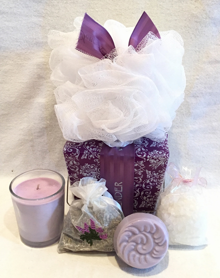 Spa Gift Basket, Lavender Gift, Lavender Spa Gift, Spa Gift Set