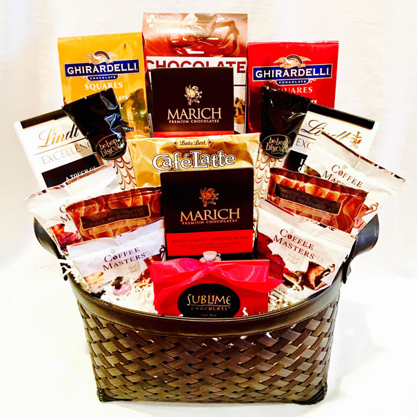 Gourmet Coffee and Chocolate Gift Basket, Coffee and Chocolate Gift Basket, coffee gift baskets, chocolate gift baskets