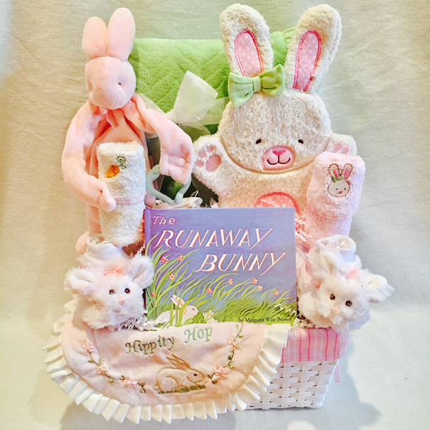 Baby Girl Gift Basket, The Runaway Bunny, Baby Girl Gift