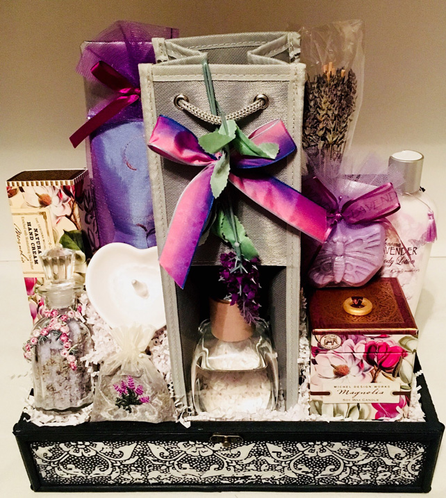relaxing spa collection, spa, spa gift, allen texas gift basket, lavender gift
