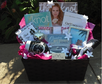 Engagement Gift Baskets Customized For The Couple Pennys Gift Baskets