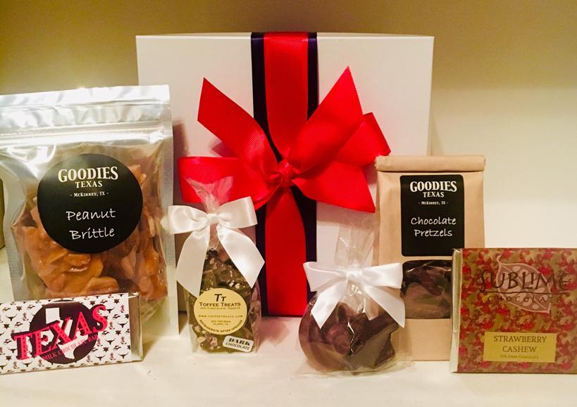 texas gift box, texas sweet gift, texas chocolate, penny's gift baskets
