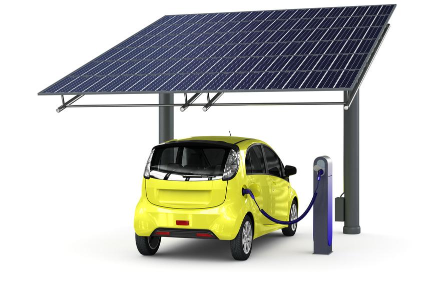 Car port photovoltaique compact avec ses 15m² au sol