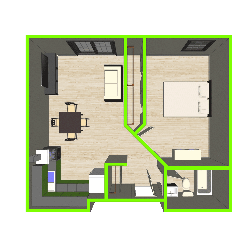 Plan d'appartement 2 1/2