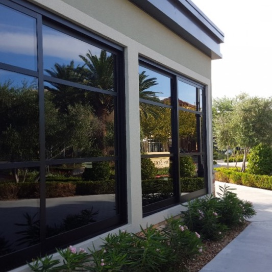 torefront in Las Vegas after window cleaning