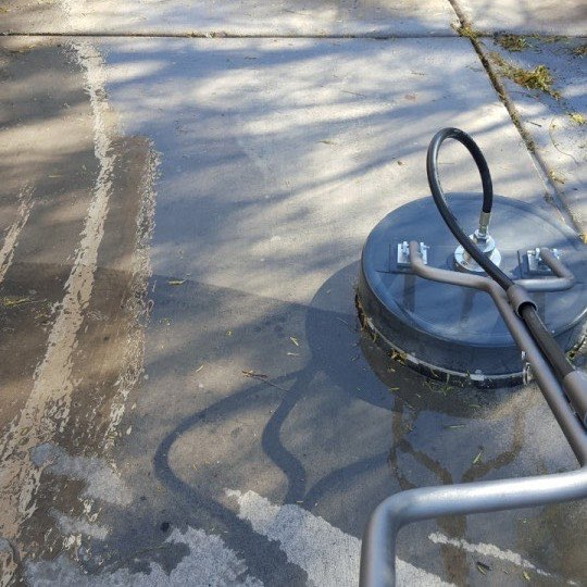 Residential property in Las Vegas being pressure washed