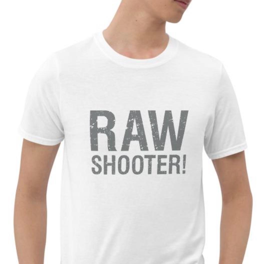 Raw Shooter, grijs, T-shirt met korte mouwen, heren