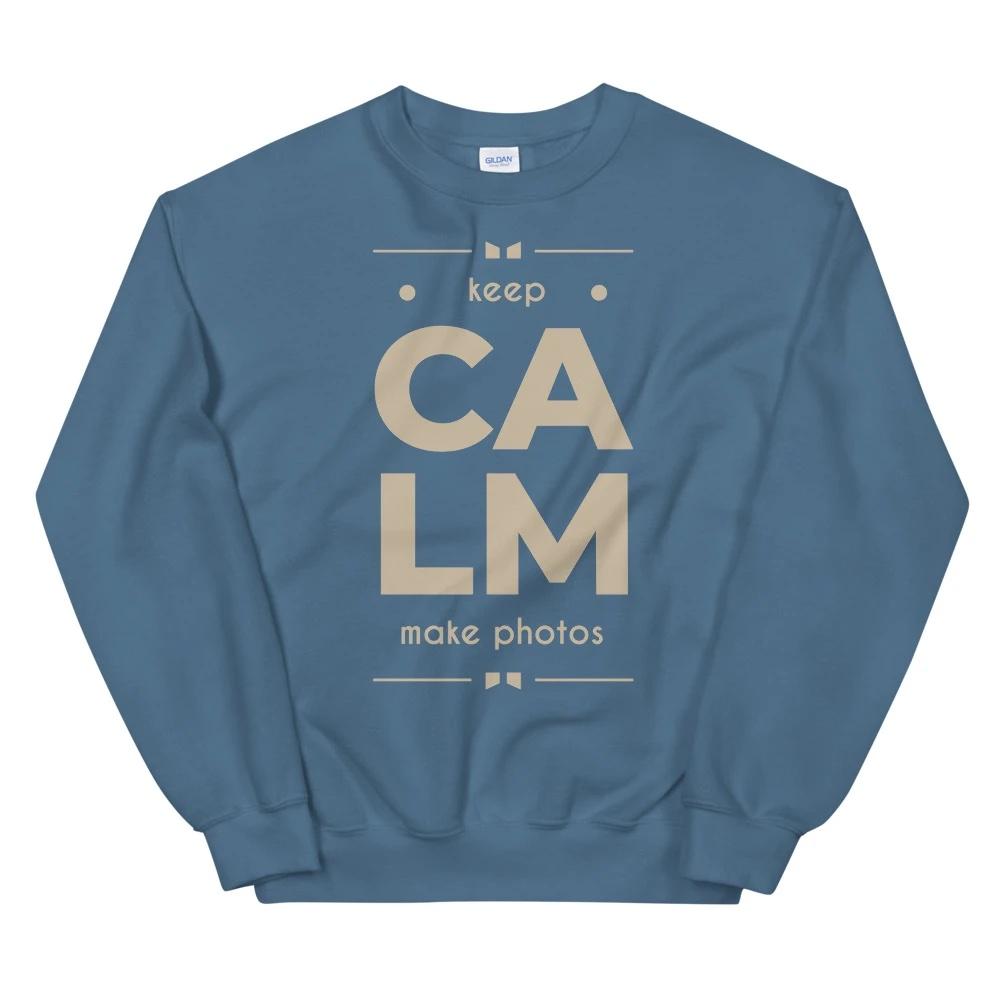 Keep Calm Make Photos - Sweatshirt, heren