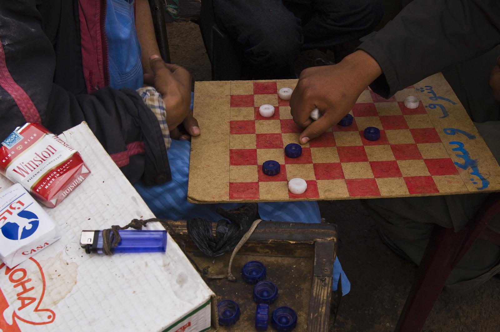 foto van schaakbord in Marokko