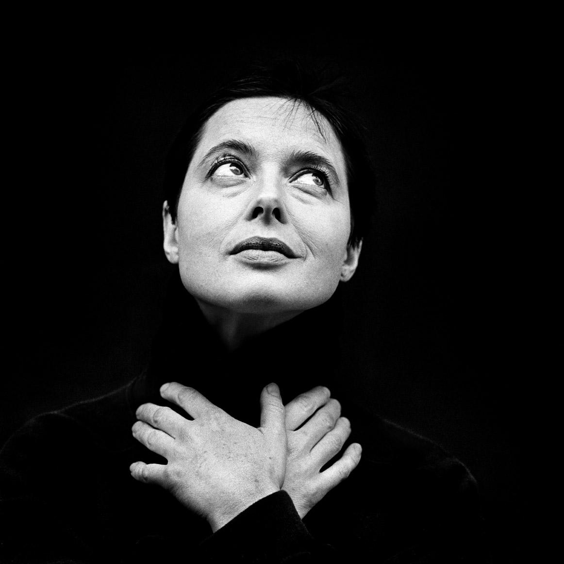 zwartwit portret van Isabella Rosselini