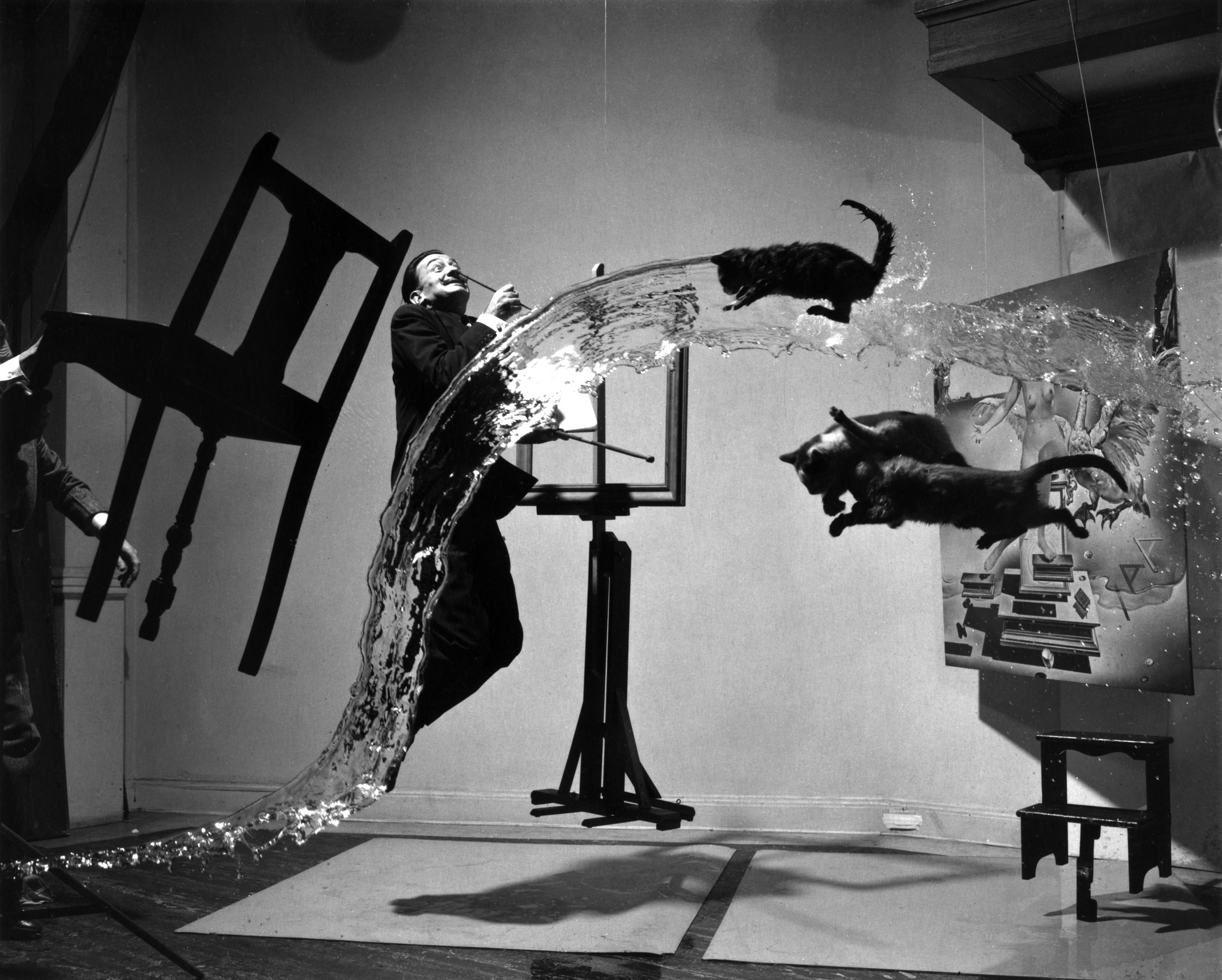de gedenkwaardige foto van de springende Dali getiteld Dali Atomicus