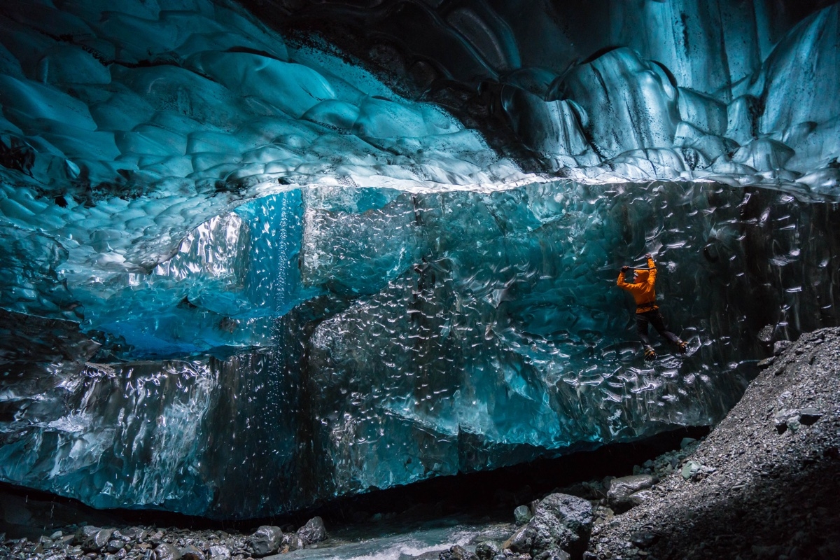foto van Mikael Buck van Ijslandse grot