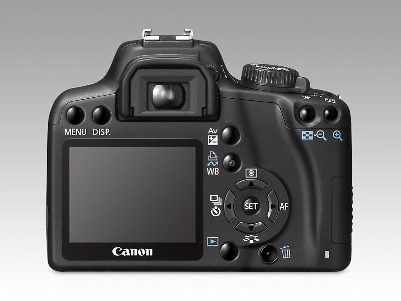 Foto van Canon EOS 1000D camera achterkant