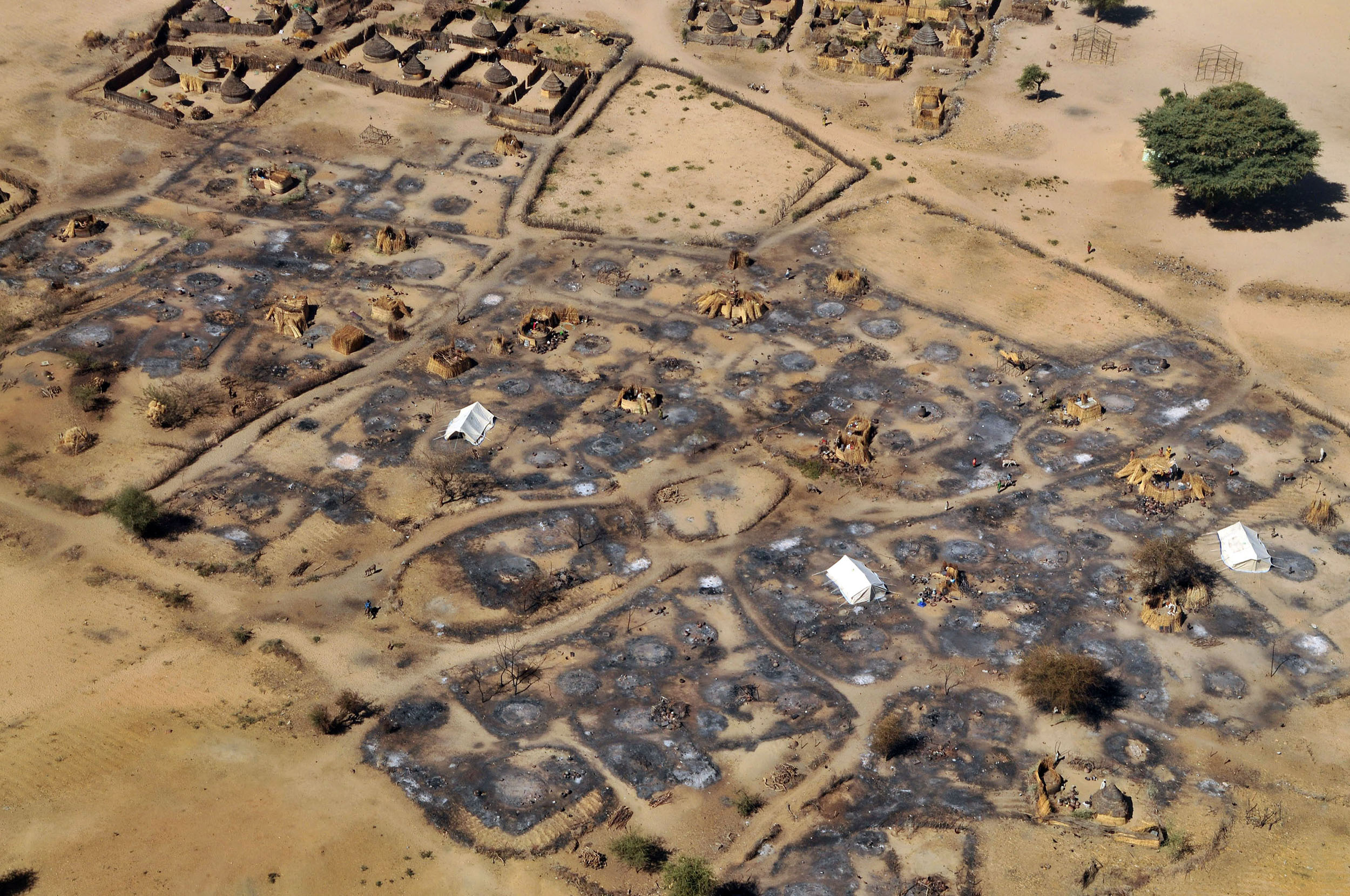 luchtfoto van Darfur